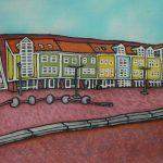 Marina met gekleurde huisjes